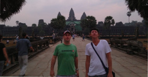 Scott & Trevor taking in sunrise at Angkor Wat in early 2013