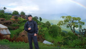 The author enjoying a view in Gorkha region, the epicentre of the first quake